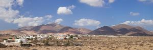 Town with Mountains in the Background, Tunisia, Fuerteventura, Canary Islands, Spain
