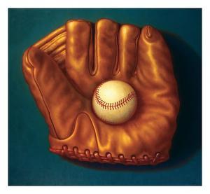 Baseball Mitt I by TR Colletta