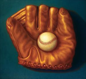 Baseball Mitt I by TR Colletta
