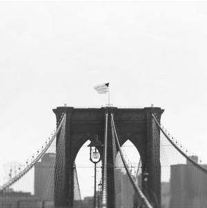 Brooklyn Bridge bw by Tracey Telik