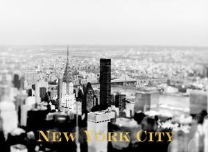 NYC Skyline Gold by Tracey Telik