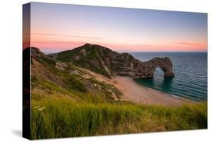 Dusk at Durdle Door, Lulworth in Dorset England Uk by Tracey Whitefoot