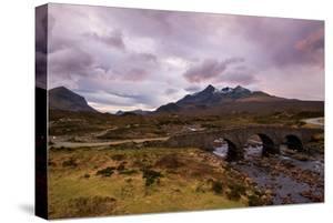 Dusk at Sligachan Bridge, Isle of Skye Scotland UK by Tracey Whitefoot