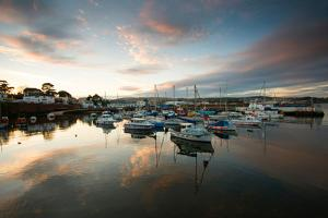 Dusk in the Harbour at Paignton, Devon England UK by Tracey Whitefoot
