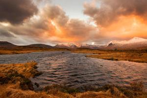 Golden Sunrise at Loch Ba in Glencoe, Scotland Uk by Tracey Whitefoot