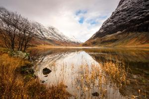 Reflections of Loch Achtriochtan in the Highlands, Scotland Uk by Tracey Whitefoot