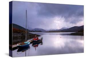 Small Sailboats on the Bank of Loch Leven. Glencoe Scotland UK by Tracey Whitefoot