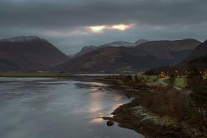 Sunrise at Loch Leven, Highland Scotland UK by Tracey Whitefoot