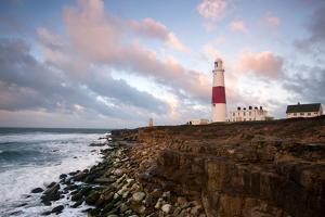 Sunrise at Portland Bill Lighthouse, Dorset England UK by Tracey Whitefoot