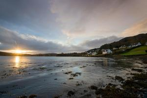 Sunrise over the Bay in Portree, Isle of Skye Scotland UK by Tracey Whitefoot