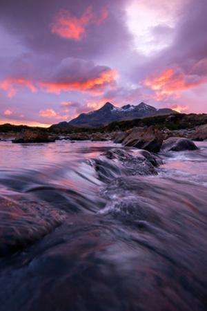Sunset at Sligachan Bridge, Isle of Skye Scotland UK by Tracey Whitefoot