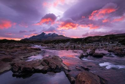 Sunset at Sligachan on the Isle of Skye, Scotland UK by Tracey Whitefoot