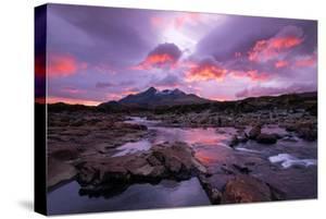 Sunset at Sligachan on the Isle of Skye, Scotland UK by Tracey Whitefoot