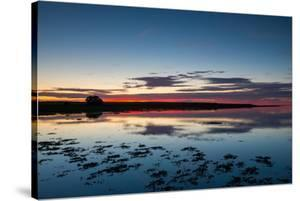Sunset Blue Hour on the Causeway on Holy Island, Northumberland England UK by Tracey Whitefoot
