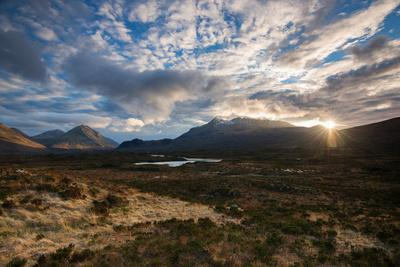 The Black Cuillin at Sligachan, Isle of Skye Scotland UK