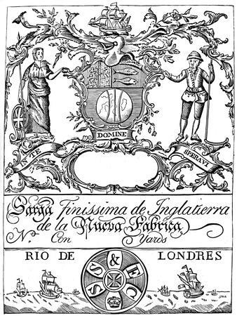 affordable coat of arms framed art for sale at allposters  trade label of the south sea pany 18th century