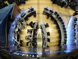 Traders Work in One of the New Trading Areas on the Floor of the New York Stock Exchange