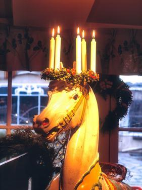 Traditional Christmas Decorations, Restaurant Stallmastargarden, Stockholm, Sweden