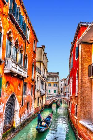 Traditional Gondolas in Venice