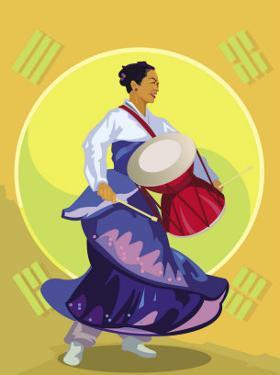 Traditional Korean Drummer