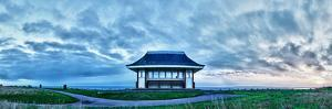 Traditional Victorian shelter on the coast, Southbourne, Bournemouth, England