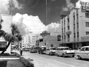 Traffic Along Las Olas Boulevard, Fort Lauderdale, Florida, 1959