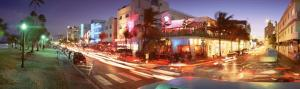 Traffic on a Road, Ocean Drive, Miami, Florida, USA