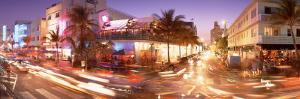 Traffic on a Road, Ocean Drive, Miami, Florida, USA