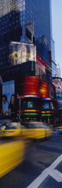 Traffic on a Street, Times Square, Manhattan, New York, USA