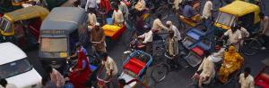 Traffic on the Street, Old Delhi, Delhi, India