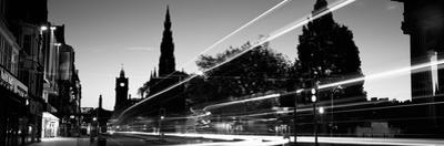 Traffic on the Street, Princes Street, Edinburgh, Scotland