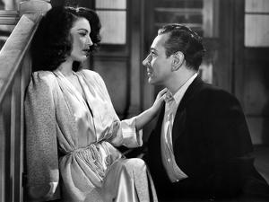 Tragique rendez vous WHISTLE STOP by LeonideMoguy with Ava Gardner and George Raft, 1945 (b/w photo