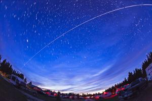 Trail of the International Space Station as it Passes over a Campground in Canada
