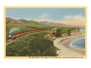 Train along California Coast