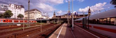 Train at a Railroad Station, Central Station, Hamburg, Germany