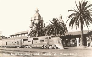 Train at Downtown Station, San Diego, California