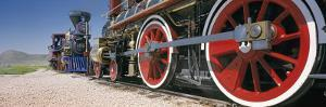 Train Engine on a Railroad Track, Golden Spike National Historic Site, Utah, USA