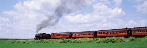 Train Moving on a Railroad Track, Strasburg, Lancaster, Pennsylvania, USA