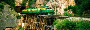 Train on a Bridge, White Pass and Yukon Route Railroad, Skagway, Alaska, USA