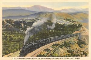 Train on Coast Range Tracks
