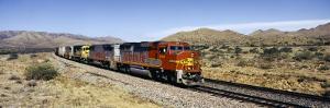 Train on Santa Fe Railroad Track, Arizona, USA