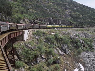Train, White Pass Railway, Skagway, Alaska, United States of America (Usa), North America by G Richardson