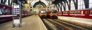Trains at a Railroad Station, the Railway Station of Antwerp, Antwerp, Belgium