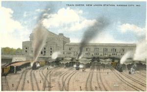 Trains Pulling out of Union Station, Kansas City, Missouri