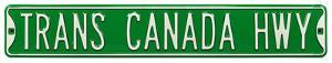 Trans Canada Hwy Steel Street Sign