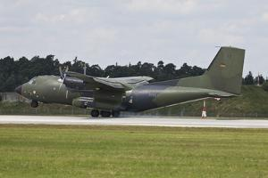 Transall C-160G of the German Air Force Touching Down on the Runway
