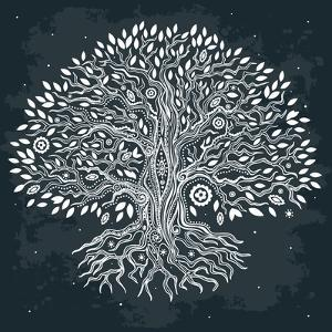 Beautiful Vintage Hand Drawn Tree of Life by transiastock