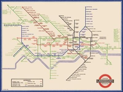 London Underground Map, Harry Beck, 1933 by Transport for London