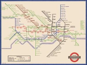 london underground map harry beck 1933 by transport for london