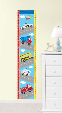Transportation Growth Chart Wall Decal Sticker